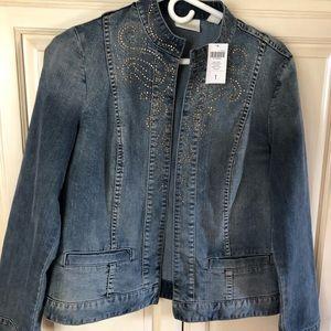 Chico's trendy denim jacket